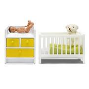 Мебель для домика Стокгольм Кровать с пеленальным комодом фото