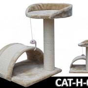 Когтеточка домик игровой комплекс для кота дряпка H-05 фото