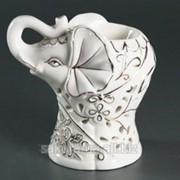 Аромолампа Фигурка / Фарфоровый Слон / Белый с золотом s02222-01 фото
