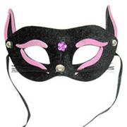 Маска Кошка черно-розовая фото