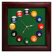 Часы КВАДРАТ-ПУЛ махагон, 44х44 см фото
