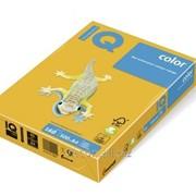 Бумага цветная iq color A4, 160г/м2, sy40/160-солнечно-желтый 250л. SY40-160 фото