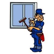 Мытье окон, лоджий, витрин, фасадов фотография