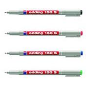 Набор маркеров для пленки Edding 150/4S, стираемых, 0,3мм, 4цв/уп фото
