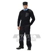 Джемпер форменный, цв. черный фото
