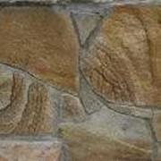 Песчаник рваный желтый, а также с разводами под дерево фото