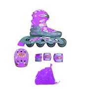 Набор ролик коньки,защита, шлем, р 30-33 фото