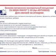 Белково-витаминно-минеральный концентрат 5% БВМК для свиней на откорме PANTO® F-10 фото