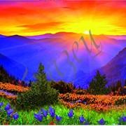 Схема для вышивки бисером Восход в горах КМР 3015 фото