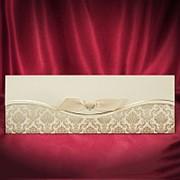 Свадебные приглашения с золотистыми узорами фото