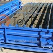 Оборудование для производства дорожных Стром-бордюров, размером 3000х450х150 мм, формуется 8 бордюров, металл 6 мм фото