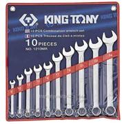 Набор комбинированных ключей, 8-24 мм, 10 предметов KING TONY 1210MR фото