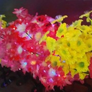 Деревья светодиодные LED кусты, 0,8 м. Цвет; Красный, розовый, желтый, белый, синий, молочный, синий-красный фото