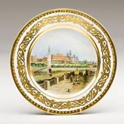 Декоративная тарелка Вид на Кремль фото