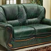 Двухместный кожаный диван Изабель 2 фото