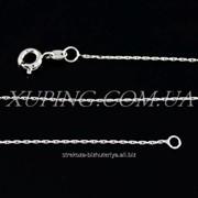 Цепочка родиум ''Якорное'' овальное плетение (мелкая), (45 см) 224819(2) фото