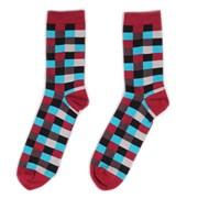 Носки Check — Black/Red/Blue — Socks'N'Roll фото