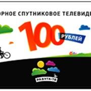 Карта оплаты Радуга ТВ номиналом 100 рублей фото