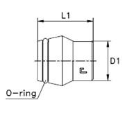 Заглушка V / коническая резьба 24° с упл. кольцом VP Тип: 1073.. корпус фото
