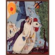 Картина по номерам Марк Шагал Новобрачные фото
