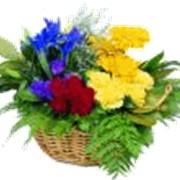 Корзинка цветов фото
