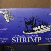 Креветки Rock Shrimp 1/3/64 кг резаные во льду в пластиковых вёдрах фото