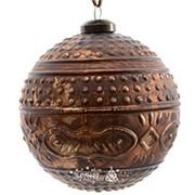 "Набор стеклянных шаров ""Антикварная лавка"", 100 мм, 2 шт (Kaemingk) фото"