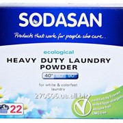 Порошок-концентрат стиральный органический Sodasan Heavy Duty для сильных загрязнений, с смягчителем воды и кислородом фото