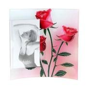 Фоторамка Сима 10*15 стекло Розовые розы вогнутая