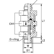 Обратный клапан с уплотнением Тип: 5020