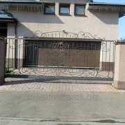 Ворота кованые откатные 11 фото