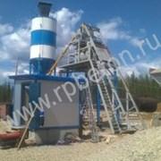 Бетонный завод HZS50 скип фото
