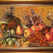 Натюрморты с янтаря(20х30 деревянная рамка) фото