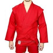 Куртка для самбо Крепыш красная фото