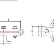 Опорный зажим для трех проводов (типа ОЗП3) фото
