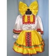 Костюм плясовой (девочка, желтый) фото