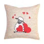 Декративная подушка Овечка с сердцем фото