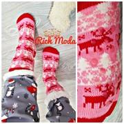Женские домашние тапки- носки с принтом в расцветках. ИТ-5-1118 фото