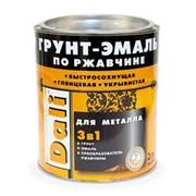 Грунт - Эмаль Dali по ржавчине 3 в 1 коричневая 2,0л фото