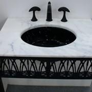 Мраморная столешница для ванной комнаты фото