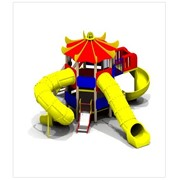 Детский игровой комплекс ДИК Паук H г.=0,6м пласт.-1шт. H г.=2,0м пласт.-3шт (5471) фото