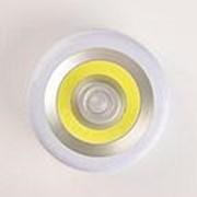 Фонарь Облик 5036 3LED COB, настенно-потолочный, датчик движения, 3*ААА /12/96/ фото