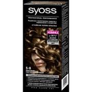 Крем-краска SYOSS 5-8 Ореховый светло-каштановый, 50мл фото