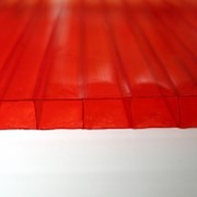 Поликарбонат сотовый 12000х2100х8 красный фото