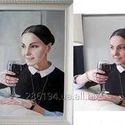 Портрет маслом на заказ по фотографии фото