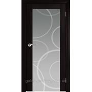 Двери межкомнатные Глассо Черный Венге ПО (Рис. Круги) фото