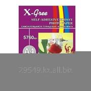 Фотобумага X-Gree 120 g/m2 50 list A4 самоклеящаяся фото