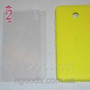 Крышка задняя желтая для Nokia Lumia 630 | 635 | 636 | 638 + ПЛЕНКА В ПОДАРОК 4747 фото