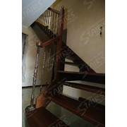 Интерьерная маршевая лестница фото