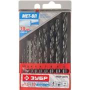 Набор Зубр Свёрла МЕТ-ВП по металлу парооксидированных, быстрорежущая сталь, 1,5-6,5мм, 13шт Код: 4-29605-H13 фото